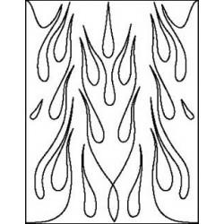 Airbrush Maske Big Flames