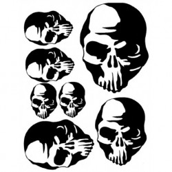 Airbrush Maske Skulls