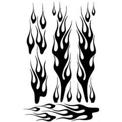 Airbrush Maske 1/18 Flames