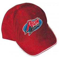 Peak Low Profile Cap - Gray w/4-color logo