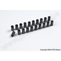Protech RC - Main Frame Holder Set (4.5 X 8.4 mm) 20 Pcs Zoom 450 Ep/Gp