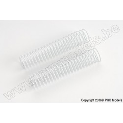 Protech RC - Shock Spring Rear White 1,5mm