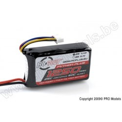 RC Plus - Python Plus 25-30C 1250 Mah 2S1P 7,4V LiPo Batterypack, Deans Conn.