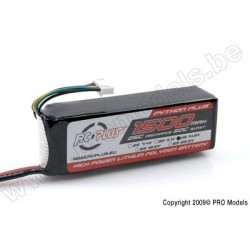 RC Plus - Python Plus 25-30C 1500 Mah 4S1P 14,8V LiPo Batterypack, Deans Conn.