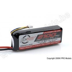 RC Plus - Python Plus 25-30C 2100 Mah 3S1P 11,1V LiPo Batterypack, Deans Conn.