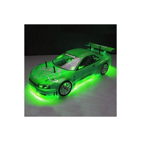 RC NEON GREEN UNDER CAR