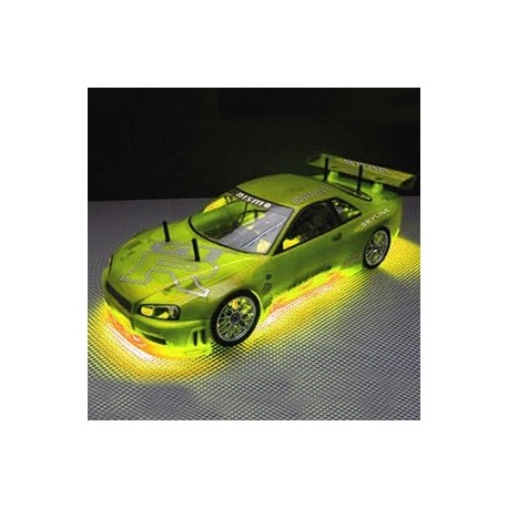RC NEON YELLOW UNDER CAR
