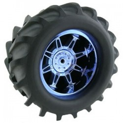 T-MAXX/SAV/MGT 'MONSTERSPIDER' BLUE CHROME WHEELS