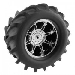 T-MAXX/SAV/MGT 'MONSTERSPIDER' WIDE CHROME WHEELS