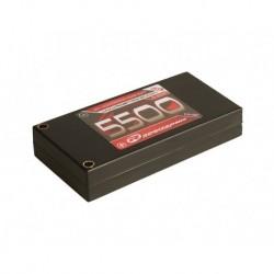 LiPo 3,7V, 5500mAh, 60C, 1S-2P, 1/12 Pack