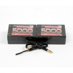 LiPo 7,4V, 5000mAh, 70C, 2S-2P, Competition Saddle Pack
