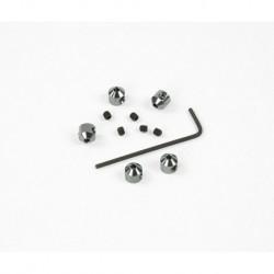 Aluminium Stopper 2mm Grau (5Stk)