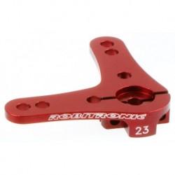 Aluminium Servo Doppel Arm 23Z (90°) Rot