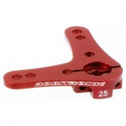 Aluminium Servo Doppel Arm 25Z (90°) Rot