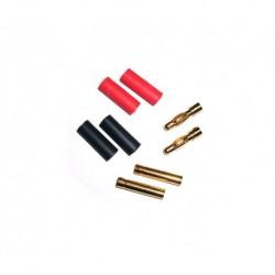 Goldkontakt Stecker/Buchse 4mm 2 Paar