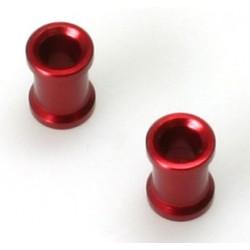 Steher für Chassis-Verstrebung rot eloxiert (2 Stück)