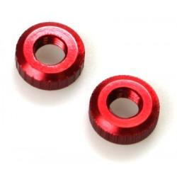 Einstellmutter für Reibscheiben rot eloxiert (2 Stück)