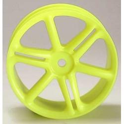 6-Speichenfelge 24mm Gelb (4 Stk)