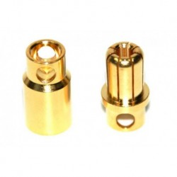 Rockamp Goldkontakt Stecker 8mm